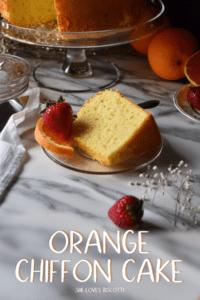 A piece of orange chiffon cake.