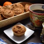 A basket of Orange Date Muffins.