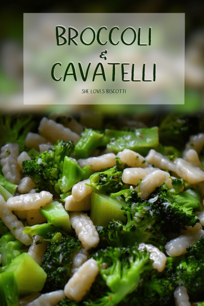 Broccoli and cavatelli are combined together to make a wonderful dish