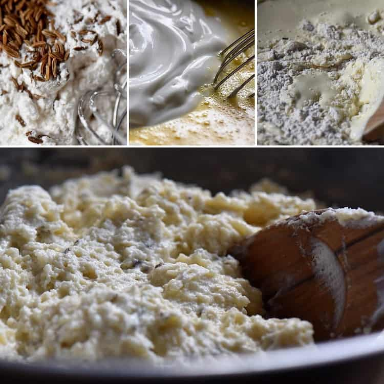 A step by step guide to mixing some of the ingredients used to make this Irish soda bread recipe.