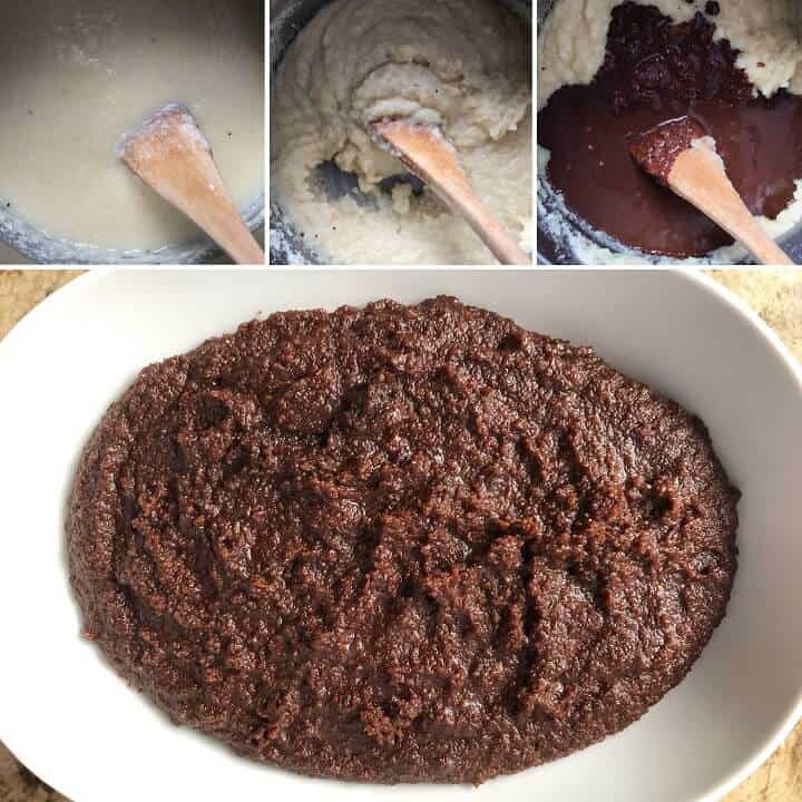 A step by step demonstration of how to make the filling for the cozonac.