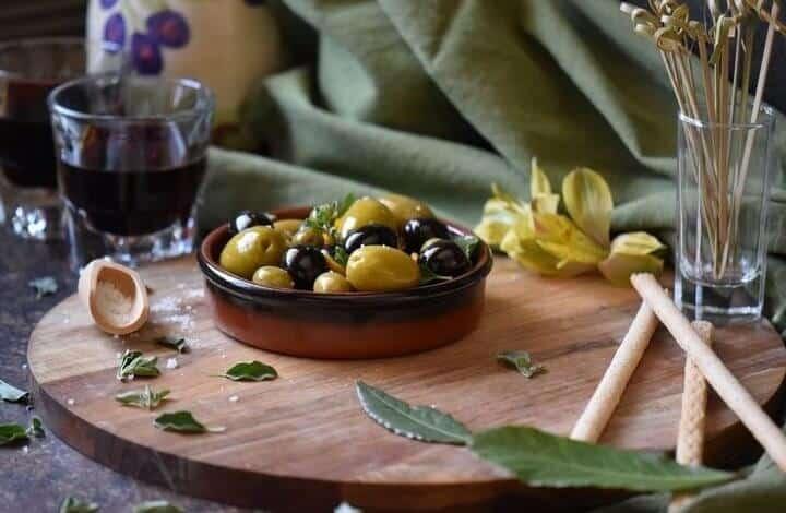 Easy Oregano Orange Marinated Olives