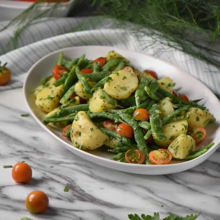 Italian Potato Salad With Green Beans And No Mayo She Loves Biscotti