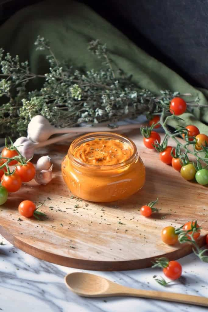 Roasted Cherry Tomato Sauce in a jar.