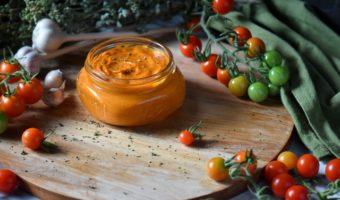 Roasted Cherry Tomato Sauce: Only 4 Ingredients
