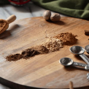 The ingredients used to make pumpkin spice include cinnamon, ginger, nutmeg, allspice, and cloves.