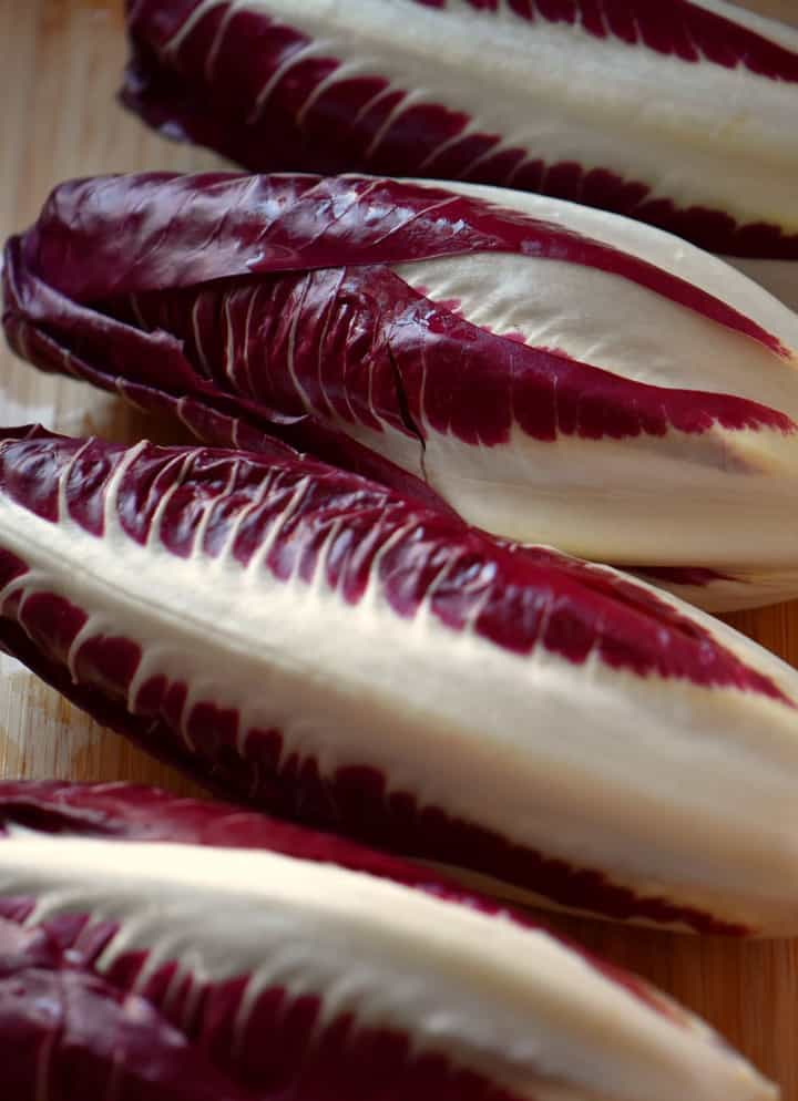 The wonderful purple colors of a radicchio.
