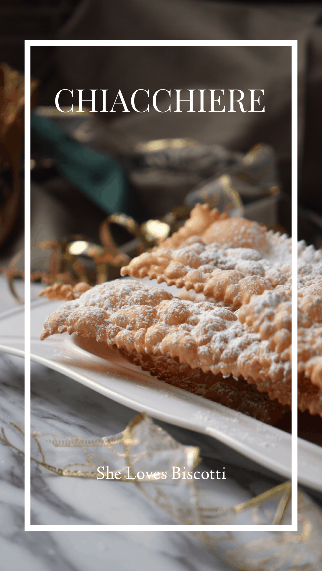 Crostoli aka Chiacchiere Napoletane are Italian carnival cookies. This family recipe is made without any butter. You won't believe how light and crispy they are! #shelovesbiscotti #crostoli #angelwings #Italianfritters #Easter #lent #Italiancookie