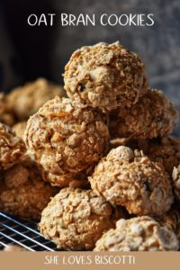 Oat Bran Cookies piles on top of one another.