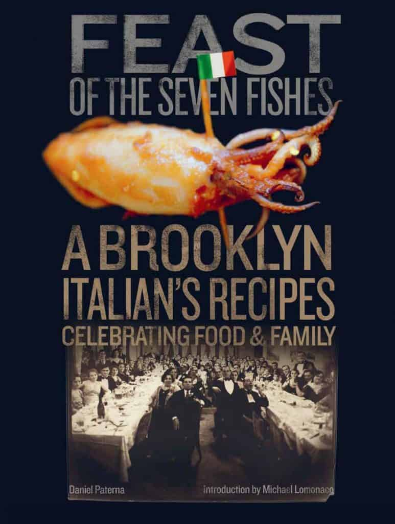 The cover of the Book entitled Feast of the Seven Fishes by Daniel Paterna