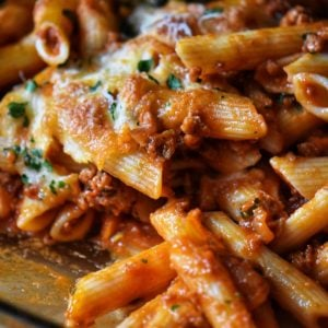 Baked Pasta in a baking dish.