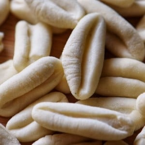 A close up of ricotta cavatelli.