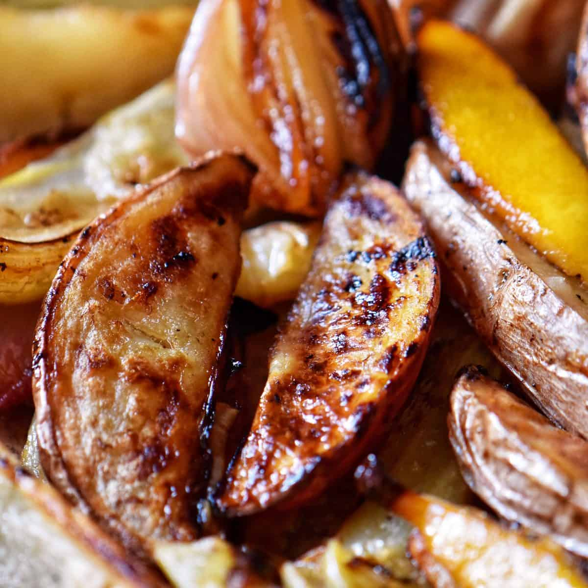 Roasted potatoes and fennel.