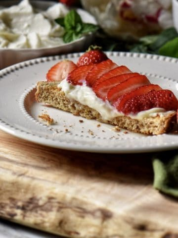 Strawberries and ricotta on toast.